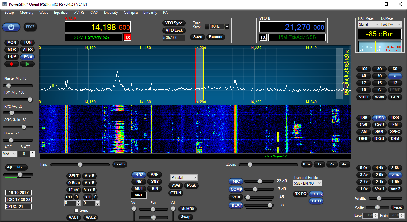 openHPSDR running on ANAN-100 made by Apache Labs